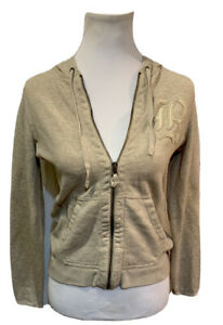 Rugby By Ralph Lauren Full Zip Hoodie Jacket Small Perfect Oatmeal Embroidered