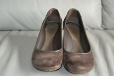Crocs Ladies Size 5 Brown Suede Wedge Shoes