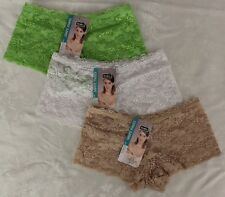 de0a2beaaf 3 PRS LADIES LACE FRENCH KNICKERS BOY LEG PANTIES BOXER PANTIES SIZE 14-16  BNWT