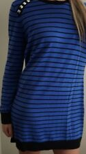 Michael Kors Knit Dress Long Sleeve Studded Long tunic Striped Blue Black L
