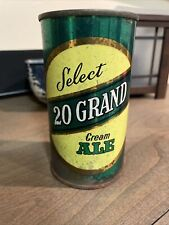 "Vintage Select 20 Grand Flat Top Beer Can 1956 ""Empty� Air Filled"
