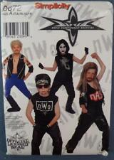 NOS Simplicity Costume Pattern 0672 NWO Wrestling New Old Stock