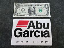 Large Abu Garcia For Life Fishing Sticker - 6 x 4 inch
