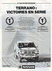 Publicité Advertising 1991 NISSAN TERRANO 10° RALLYE DES PHARAONS