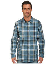 Oakley Progression Thermogauge Woven Blue Mens L/S Shirt Size Small (S) MSRP $80