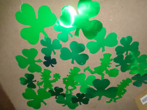 10+ VINTAGE ST PATRICKS DAY  DIE CUT OUT silhouettes-leprechauns-shamrocks