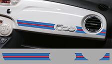 1 X BANDE MARTINI RACING TABLEAU DE BORD FIAT 500 AUTOCOLLANT STICKER BD536-2