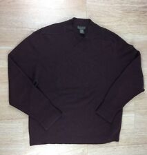 Banana Republic Mens Size XL Purple Long Sleeve V Neck 100% Cashmere Sweater