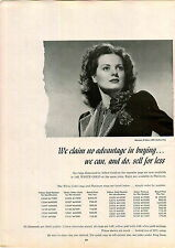 1947 PAPER AD Maureen O'Hara 20th Century Fox Movie Star Diamond Advertisement