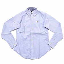 Polo Ralph Lauren Womens Buttondown Oxford Classic Pony Logo Shirt Long Sleeve