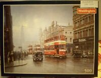 Waddingtons City Trams by Don Breckon 500 Piece Jigsaw Puzzle Complete Leeds