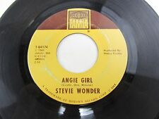 """STEVIE WONDER Angie Girl / For Once In My Life  7"""" Record 45 T-54174"""