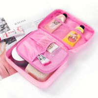Travel Cosmetic Makeup Bag Toiletry Case Hanging Pouch Wash Organizer Storage EN