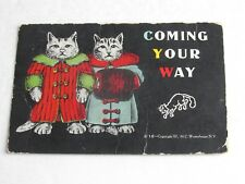 F589 Postcard Kittens Cats Coming your way 1907