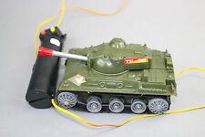 V723 Ancien jouet vintage char tank filoguidé TF 56 made in hong kong 16 cm