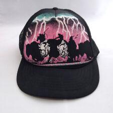 VTG Bison Indian Buffalo Hunt Mesh Trucker Snapback Hat Cap Lightning Storm