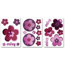DIVA DAISY 21 FOIL Wall Decals Pink Purple Flower Room Decor Stickers Decoration