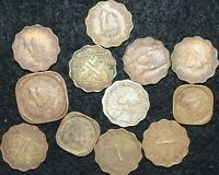 India 1/2 Half Anna Coins Indian Asian