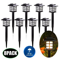 8Pack Solar Power Pathway Light Outdoor Garden Lamp Landscape Lawn Walkway Patio