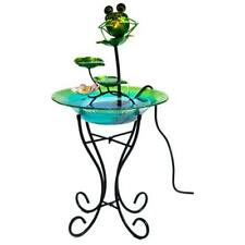 Ctm International Giftware LH40481 15 in. Glass & Metal Bird Bath