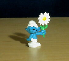 Smurfs Courting Smurf White Flower Rare Vintage Figure Toy Lot Figurine HK 20076