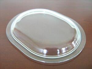 HOSTESS trolley, OVAL dish lid  Pyrex glass   Slightly damaged, see image