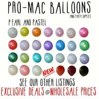 "10-200 Balloons Pearl Pastel Latex 10"" Helium Birthday Party Wedding Christening"