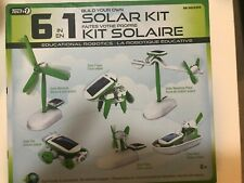 Educational Robot Kit 6 in 1 Build your own Robotics Kids Toy Solar Powered New