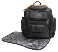 Harley-Davidson Baby Embroidered Bar & Shield Diaper Bag Backpack, Black 7150877