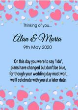 Thinking of you Wedding Day Postponed Card