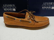 SPERRY TOP SIDER MENS BOAT SHOES A/O 2-EYE SAHARA SIZE 10.5 WIDE