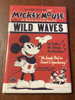 Vintage 1996 Walt Disney Mickey Mouse Magnet Wild Waves Movie Poster Cartoon