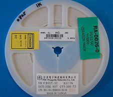 PDC 0805 Resistor 1K Reel 5% FCR05JT-102, 5000pcs