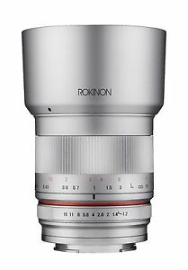 Rokinon 35mm F1.2 High Speed Wide Angle Lens for Sony E - Silver - RK3512-E-SIL