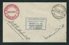 1938 INDIA rocket mail DICK TURPIN signed Stephen H. Smith - EZ 38C1