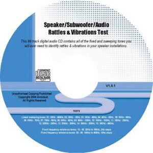 Audio Rattles & Vibrations Test Tones CD: Find Annoying Sounds & Problems