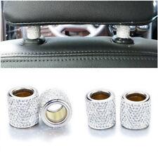 4x Bling Car Decor Crystal Seat Headrest Collar Charm Rhinestone SUV Accessory
