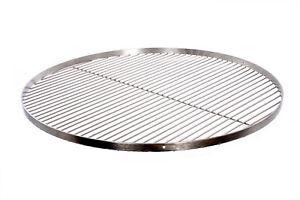 Grillrost mit Reling 50 55 60 70 80 cm Edelstahl 304 für Schwenkgrill Dreibein
