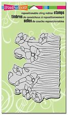 Stampendous Cling Rubber Stamp - Poppy Fields CRR262