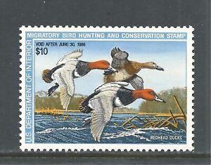 U.S. SCOTT RW54 MNH VF - 1987 $10 MULTI-COLOR FEDERAL DUCK STAMP    CV $17.50