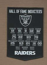NEW 4 3/4 X 7 INCH OAKLAND RAIDERS HALL OF FAME BANNER IRON ON PATCH FREE SHIP
