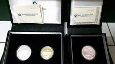 Malaysia ATM Single Silver & Proof set of 2 with cert and box Low Number SN47