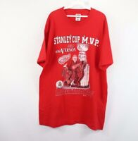 Vtg 90s Mens XL 1997 Stanley Cup MVP Detroit Red Wings Mike Vernon Hockey Shirt