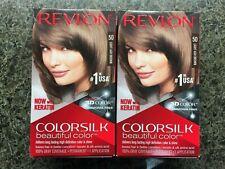 BRAND NEW Lot 2 Revlon Colorsilk Hair Color Light Ash Brown