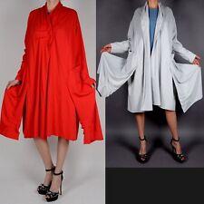 Elegante Estilo De Capas Cabo Verano Abrigo 48 50 XL Rojo AMERICANA Moderno
