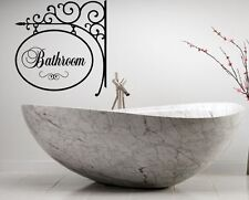 BATHROOM  BATH WORDS VINYL DECAL WALL ART LETTERING DECOR SCROLL STICKER STICKY