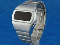 70s 1970s Old Vintage Style LED LCD DIGITAL Rare Retro Mens Watch 12 & 24 hr H