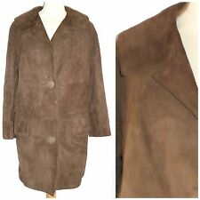 VINTAGE 50S 60S SUEDE COAT UK 14 MOD GOGO ROCKABILLY VGC