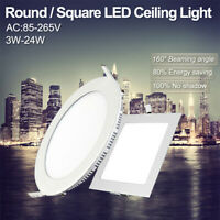 Round/Square Recessed Ceiling Lamp LED Panel Down Lights For Home/Commercial 09