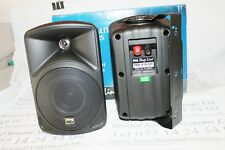 Pair Stageline PAB-416 speakers 16 ohms 30w maximum. With wall brackets. Black